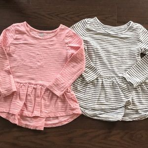Old Navy l/s striped peplum tees (2)